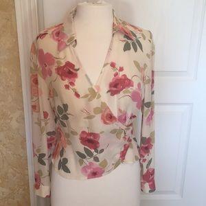 Ann Taylor Petite Spring Floral Blouse